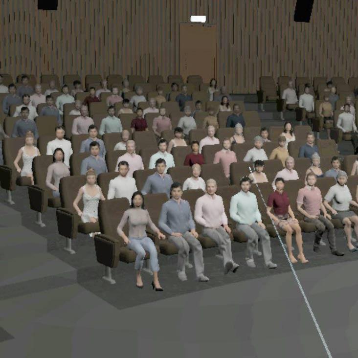Szenario Seminarraum - Ausschnitt Bühne