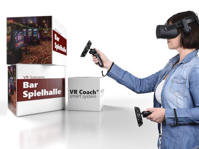 VR-Szenario Bar Spielhalle