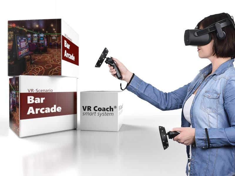 VR-Scenario bar arcade