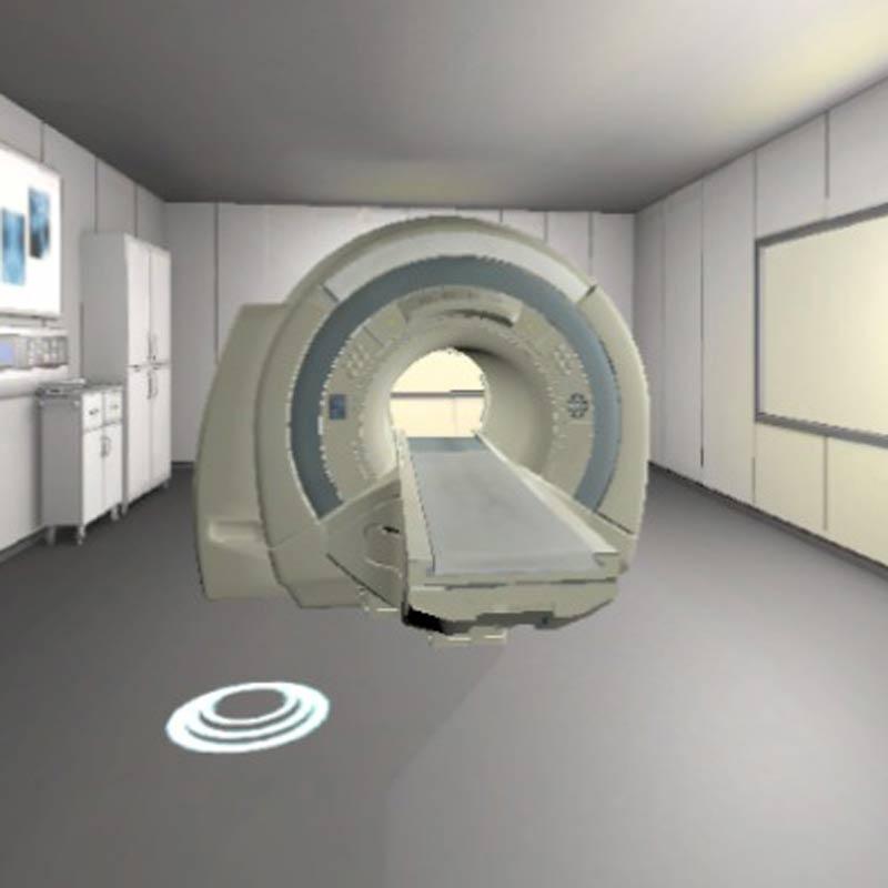 VR-Szenario MRT-Röhre