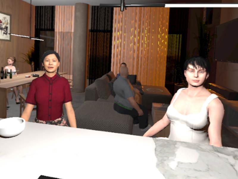 VR Scenario private party screen